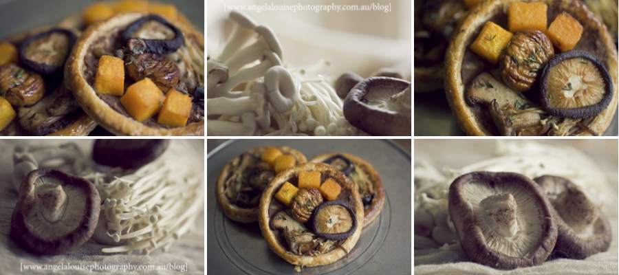 Buttery mushroom and caramelised pumpkin